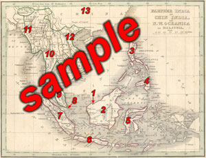 Circa 1835 Southeast Asian Map
